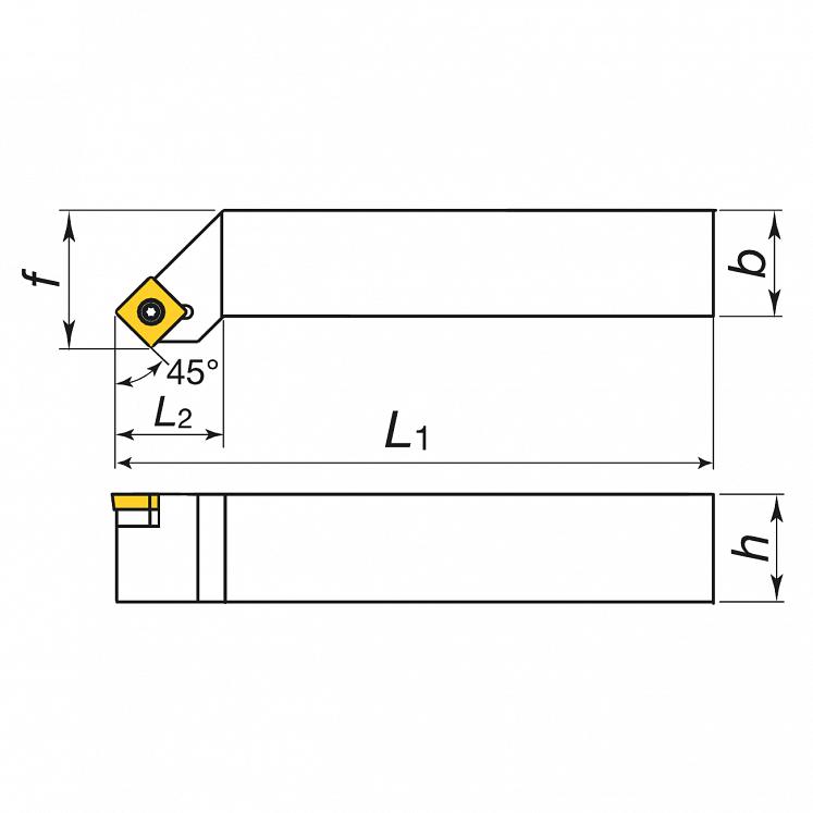 Portainserti di tornitura esterna per inserti positivi KERFOLG TURN - Forma S - SSSCR/L