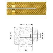 Tasselli in ottone PO FISCHER Attrezzatura per officina 33528 0