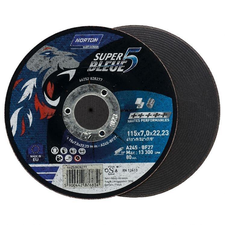 Depressed centre grinding discs NORTON SUPER BLEUE 4
