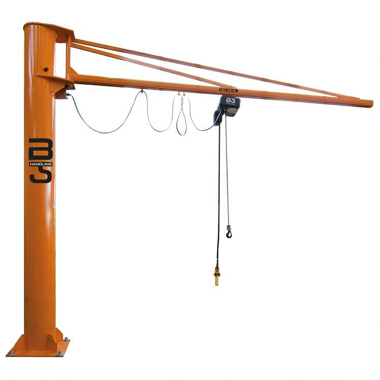 Round column mounted jib cranes with GIS system KB profile arm B-HANDLING