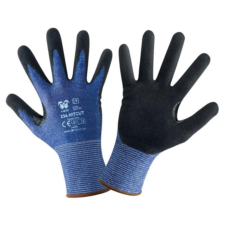 Cut-resistant gloves coated continuous thread polyethylene