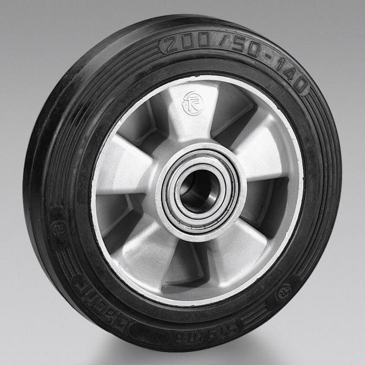 Rubber wheels with aluminium centre TELLURE RÔTA SIGMA ELASTIC