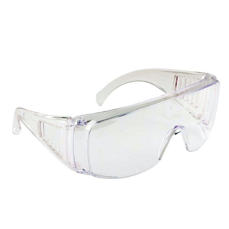 Transparent polycarbonate protective eyewear