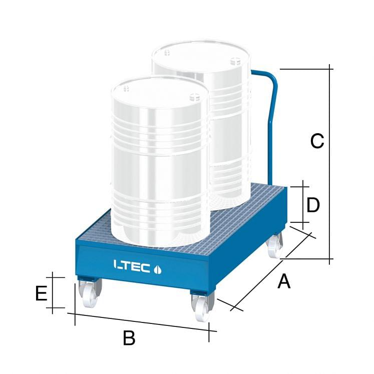 Spill sump trolley for drums LTEC