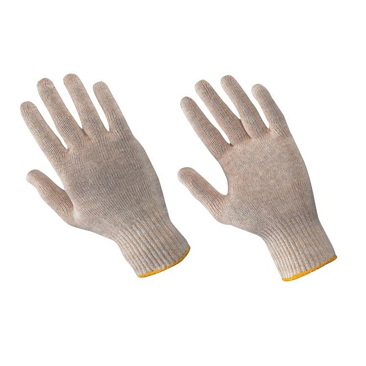 Work gloves in continuous cotton wire