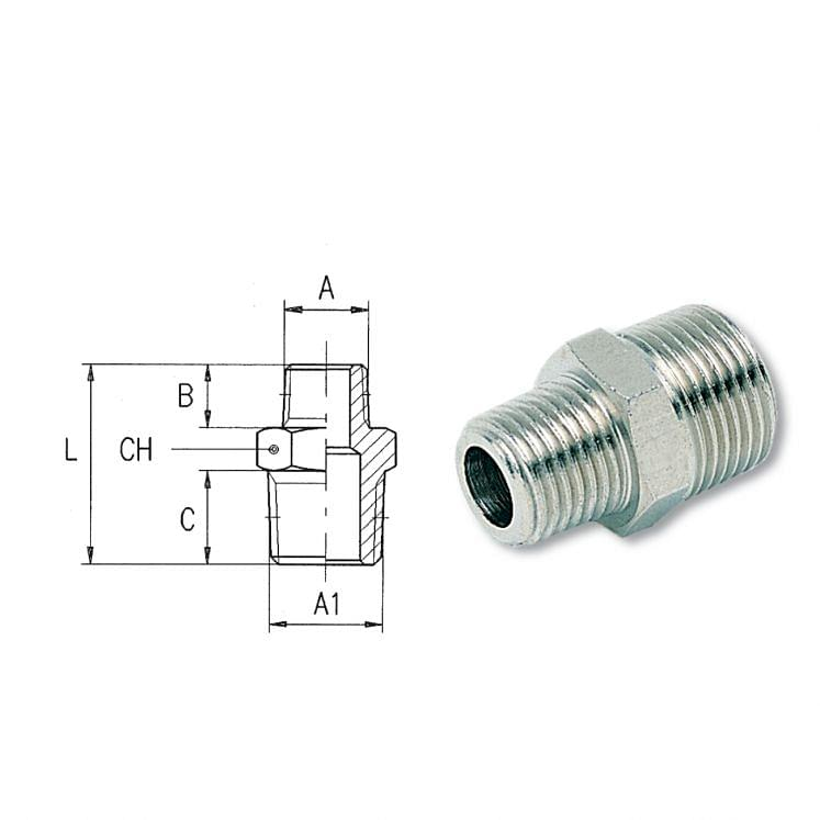 Taper threaded reduction nipples AIGNEP 2020
