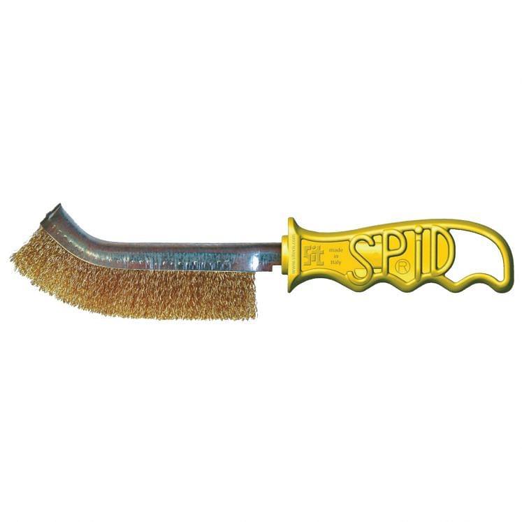 Wire hand brushes in brass SPID