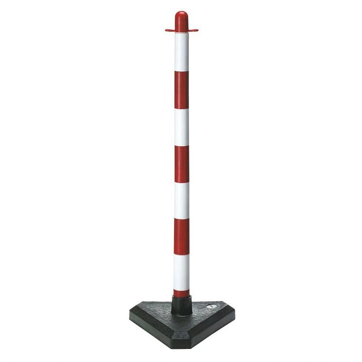 Plastic chain stanchions for delimitations