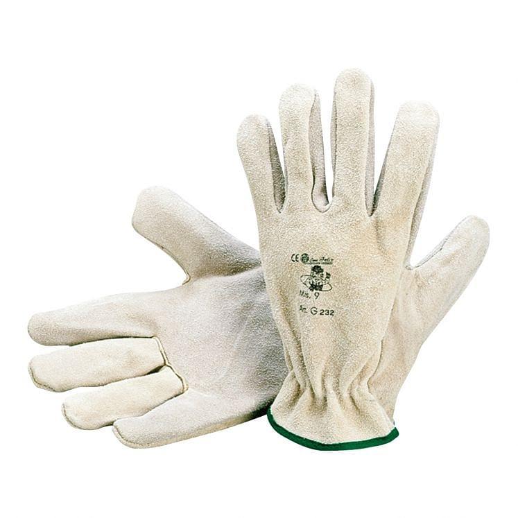 Work gloves in rump split