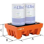 Polyethylene spill pallets for drums LTEC Furnishings and storage 38984 0
