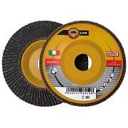 Flap grinding discs with plastic backing in silicon carbide abrasive cloth WRK LION PLASTICA Abrasives 30173 0