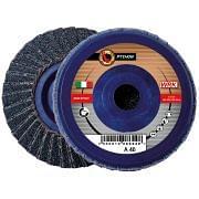 Flap grinding discs with plastic backing in zirconium abrasive cloth WRK PYTHON PLASTICA Abrasives 10 0