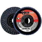 Flap grinding discs with reinforced flat nylon backing in zirconium abrasive cloth WRK RAVEN EVO PLASTICA Abrasives 244835 0