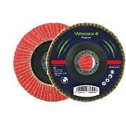 Flap grinding discs with backing in fiberglass in polycotton abrasive cloth WODEX RAPTOR PIANO Abrasives 348095 0