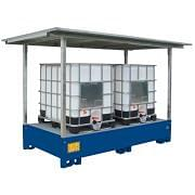 Collection tank with canopy for two 1000 l tanks Furnishings and storage 361870 0