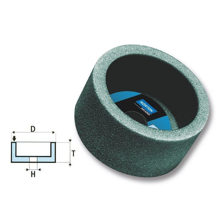NORTON, zylindrische Topfschleifscheiben aus Siliciumcarbid