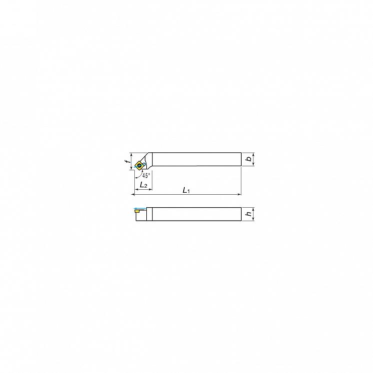 KERFOLG TURN, Drehwendeschneidplatten für die Außendrehbearbeitung mit Schmierung, für positive Wendeschneidplatten - Form S - SSSCR/L