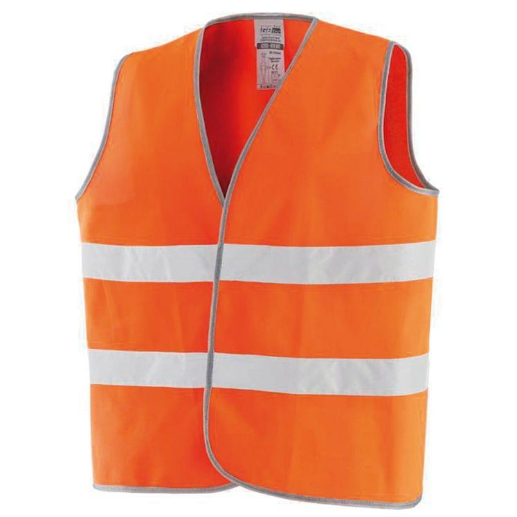 Warnweste in Orange aus Polyester