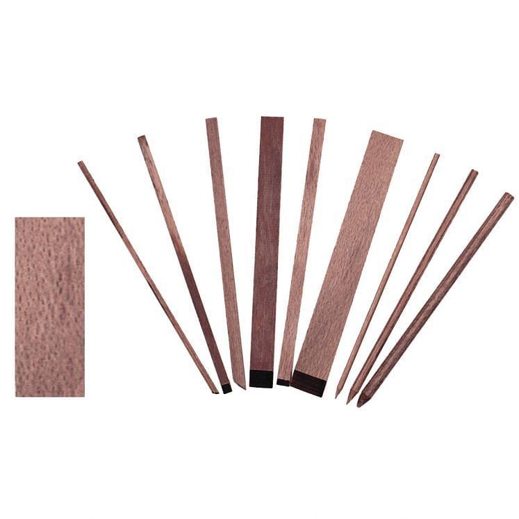 GESSWEIN, Rechteckige Drehlinge aus Holz zum Läppen und Polieren