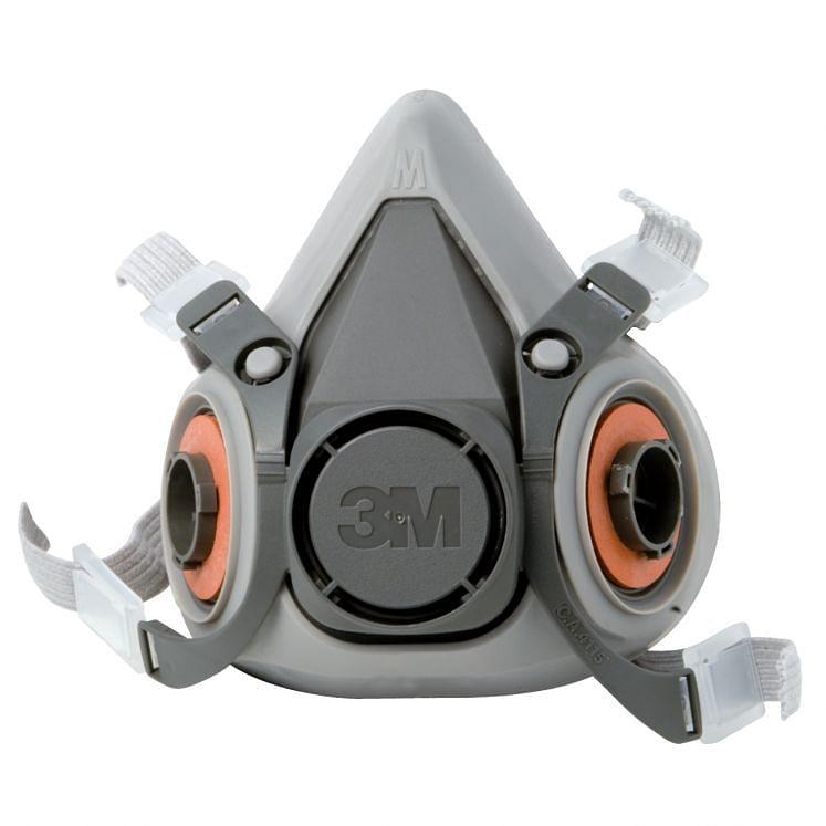3M, Zwei-Filter-Halbmasken, für Gase und Dämpfe, 6100- 6200- 6300