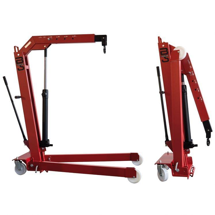 B-HANDLING, Fahrbare Hydraulikkrane, klappbar