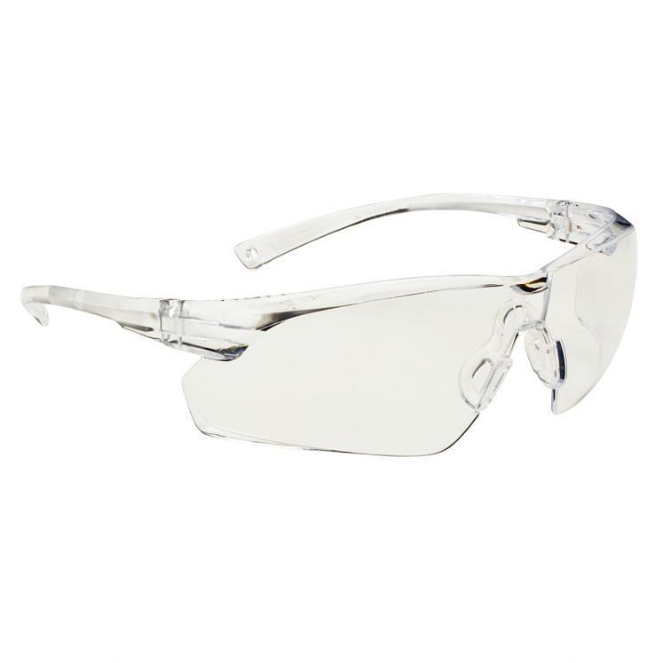 Kratzfeste Schutzbrille, mit transparentem Gestell