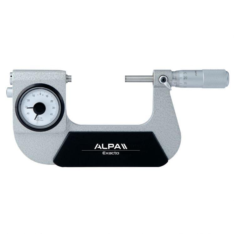 ALPA EXACTO, Analoge Messschrauben für Außenmessungen mit Messuhr, BB040