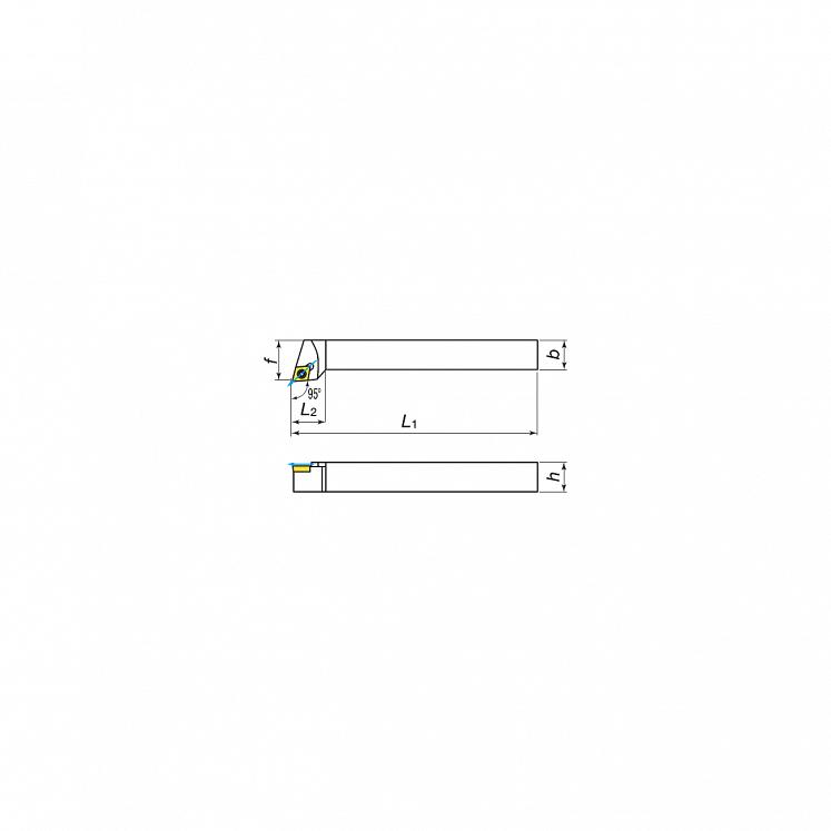 KERFOLG TURN, Drehwendeschneidplatten für die Außendrehbearbeitung mit Schmierung, für positive Wendeschneidplatten - Form C - SCLCR/L