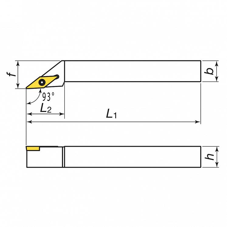 KERFOLG TURN, Wendeplattenhalter für die Außendrehbearbeitung, für positive Wendeschneidplatten - Form V - SVJBR/L