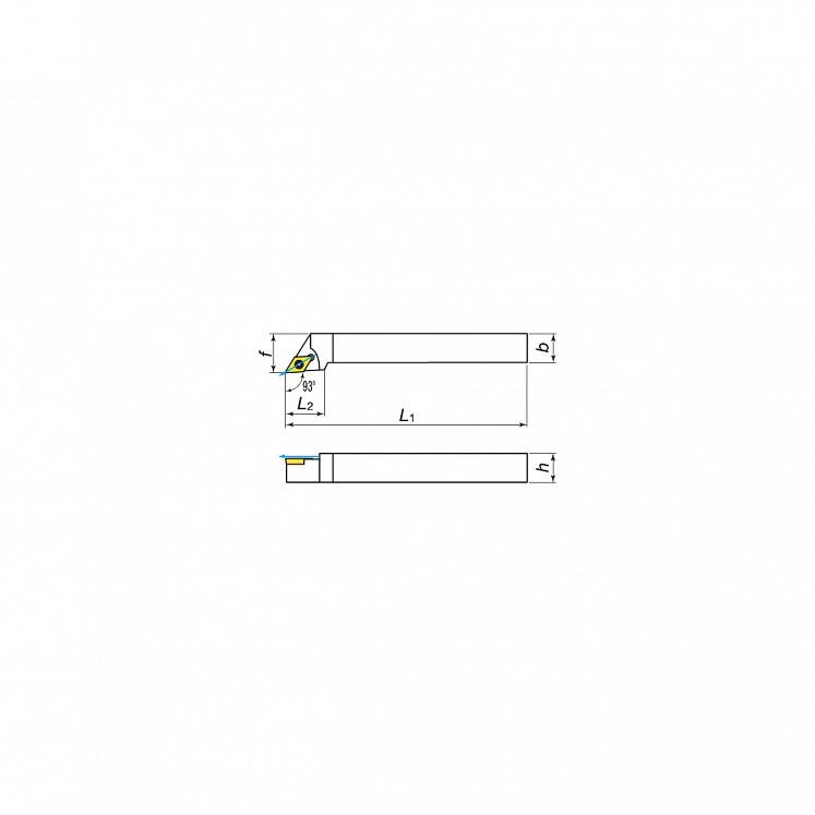 KERFOLG TURN, Drehwendeschneidplatten für die Außendrehbearbeitung mit Schmierung, für positive Wendeschneidplatten - Form D - SDJCR/L
