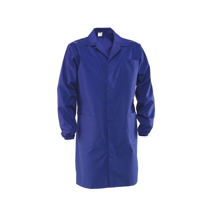 Arbeitskittel in Blau, Weiß oder Schwarz, aus Polyester und Baumwolle