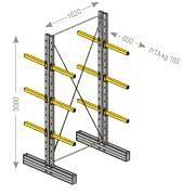 """IPE-Kragarmregale """"S"""", leichte Ausführung, zweiseitig Betriebseinrichtungen und Behälter 21313 0"""