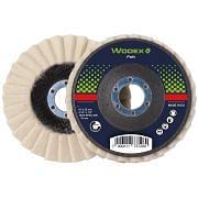 Fächerschleifscheiben aus Filz WODEX FELT Schleifmittel 348094 0