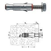 FISCHER, Bolzenanker für ungerissenen Beton, SLM mit verzinkter Sechskantschraube, 8.8 Maschinen, Vorrichtungen und Bauteile 33542 0