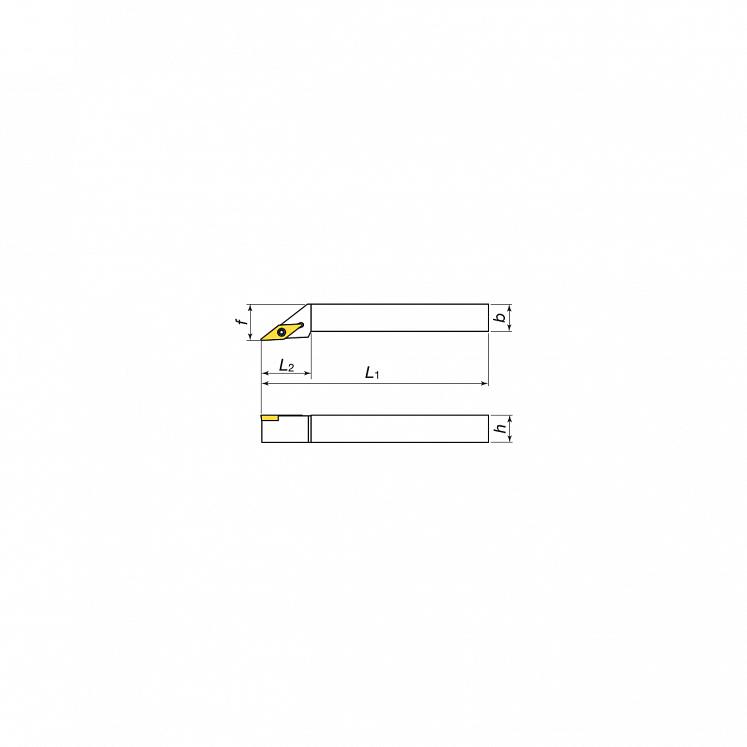 Portaherramientas de torneado exterior para plaquitas positivas KERFOLG TURN - Forma V - SVJCR/L