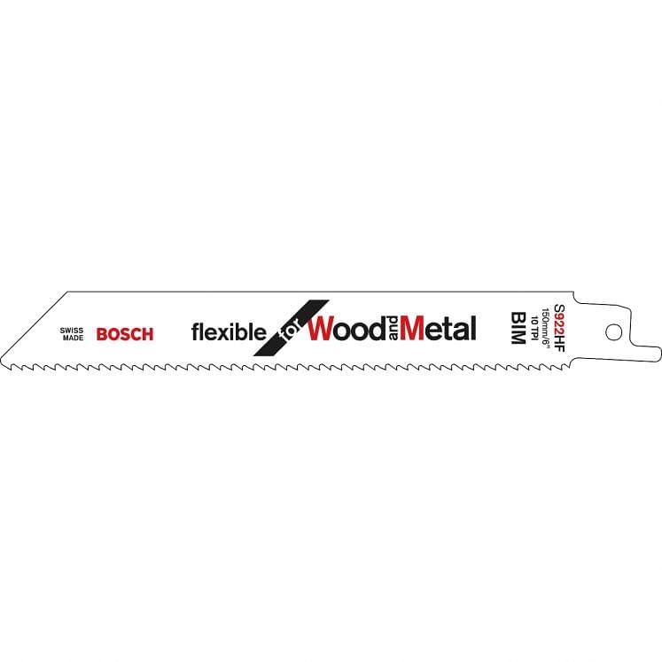 Hojas para sierras universales para madera con clavos BOSCH S 922 HF