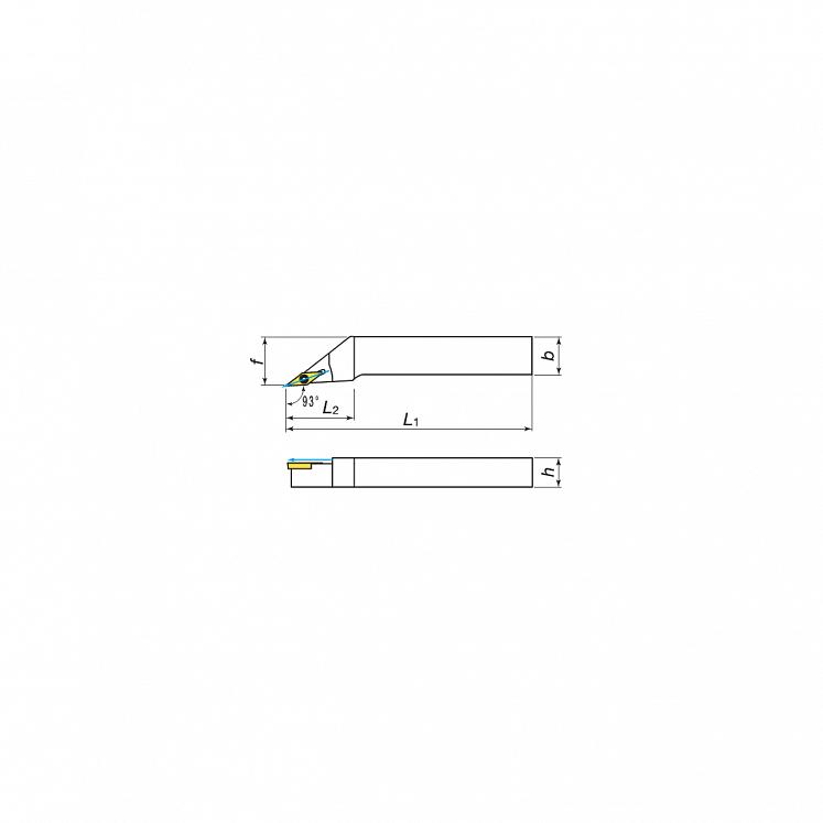Plaquitas para torneado exterior con lubricación para plaquitas positivas KERFOLG TURN - Forma V - SVJCR/L