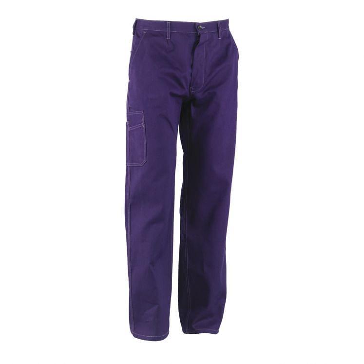 Pantalones de trabajo azules de algodón de Massawa sanforizado