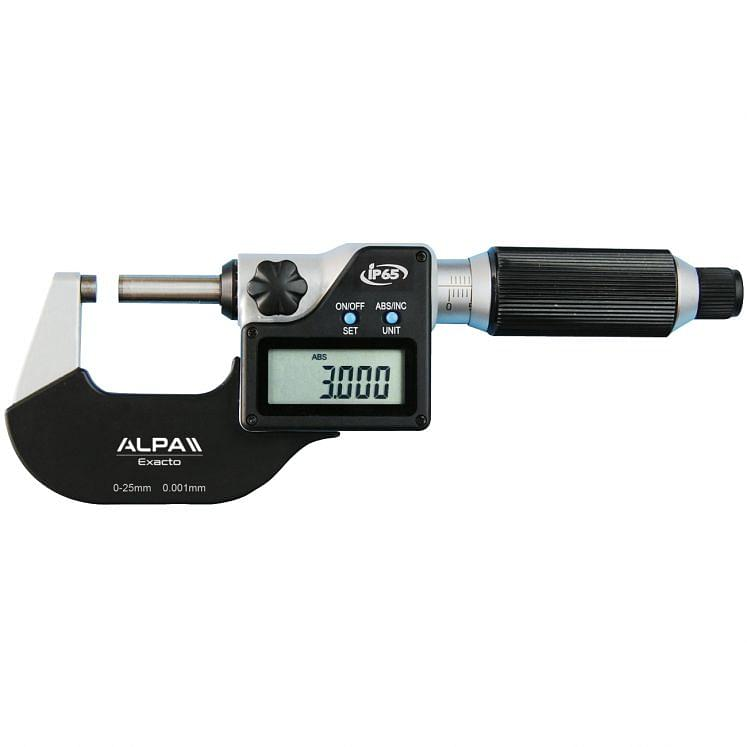 Micrómetros digitales IP65 ALPA QUICK FEED BA020