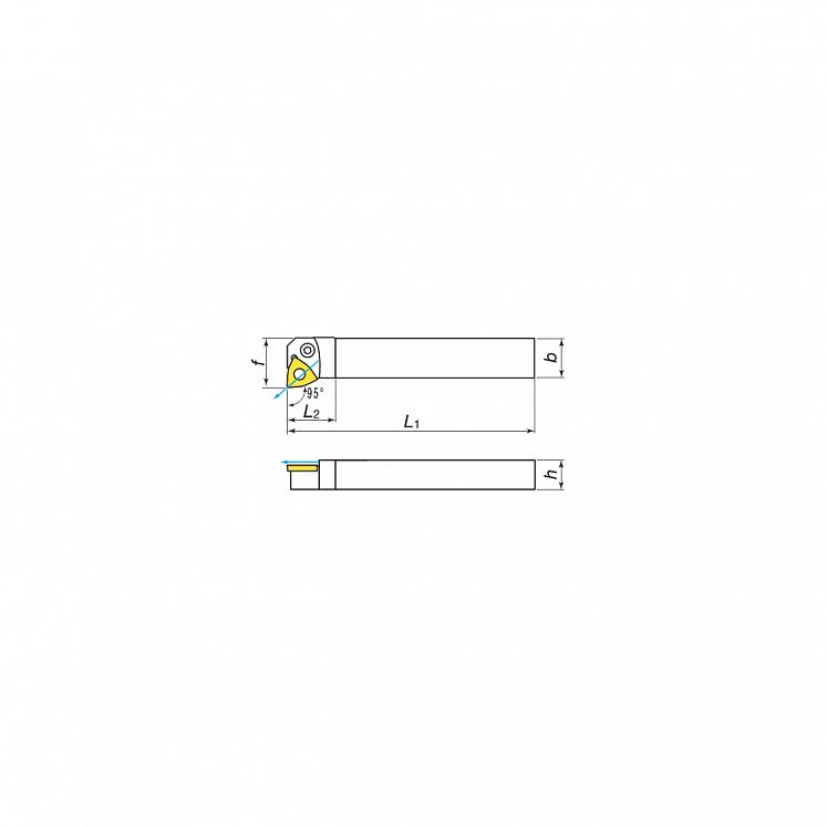 Plaquitas para torneado exterior con lubricación para plaquitas negativas KERFOLG - Forma W - PWLNR/L