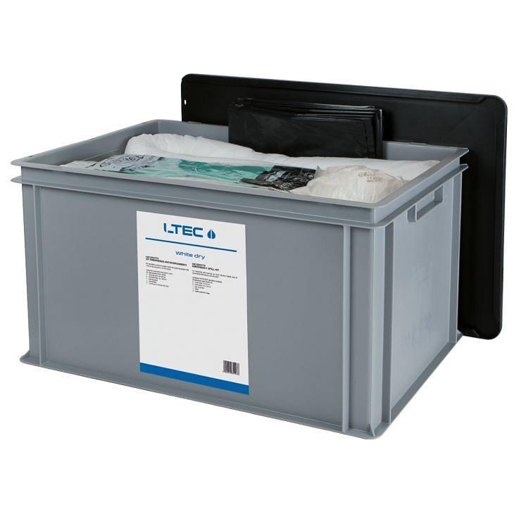 Kit de emergencia antiderrame para aceites LTEC WHITE DRY KIT