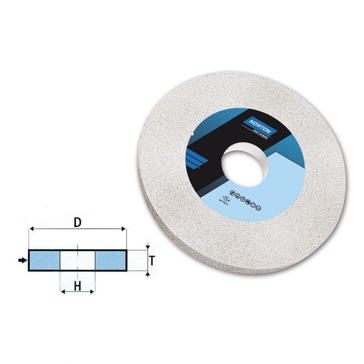 Muelas abrasivas de disco para afilado de óxido de aluminio cerámico y Vitrium NORTON