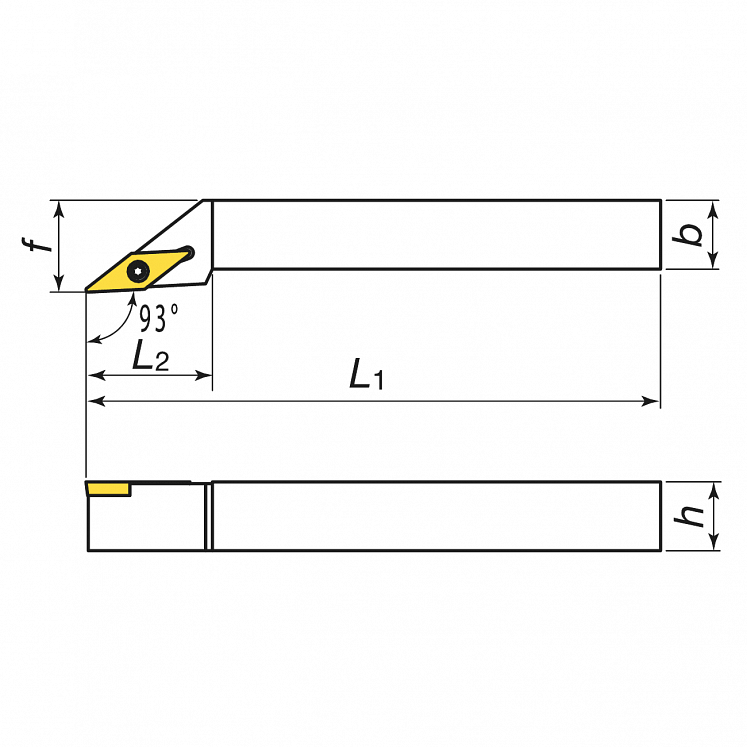 Portaherramientas para torneado exterior para plaquitas positivas KERFOLG TURN - Forma V - SVJBR/L