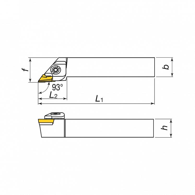 Portaherramientas para torneado exterior para plaquitas positivas KERFOLG TURN - Forma K - CKJNR/L