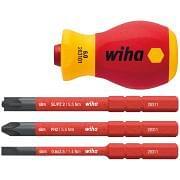 Destornilladores stubby portahojas VDE 1000V WIHA SLIMVARIO ELECTRIC Herramientas manuales 365171 0