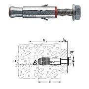 Tacos para hormigón no fisurado SLM con tornillos de cabeza hexagonal 8.8 galvanizada FISCHER Máquinas y herramientas de taller 33542 0