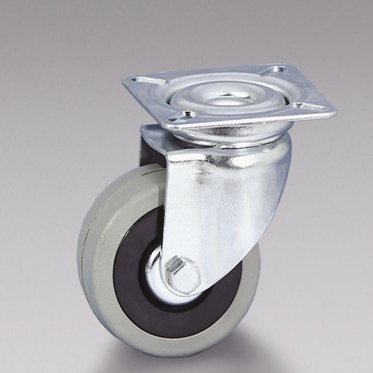 Grey rubber wheels centre in polyamide TELLURE RÔTA