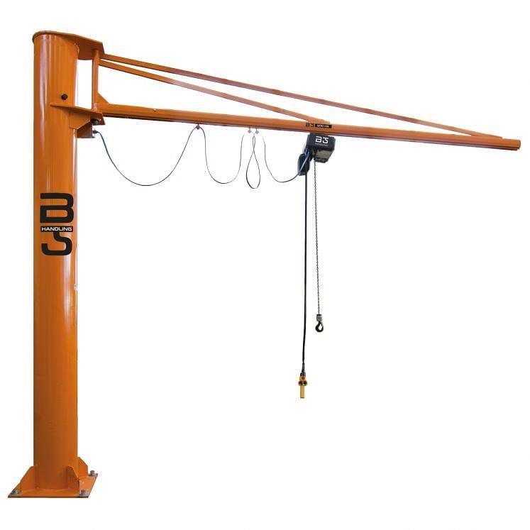 Round column mounted jib cranes with profile arm GIS SYSTEM KB B-HANDLING
