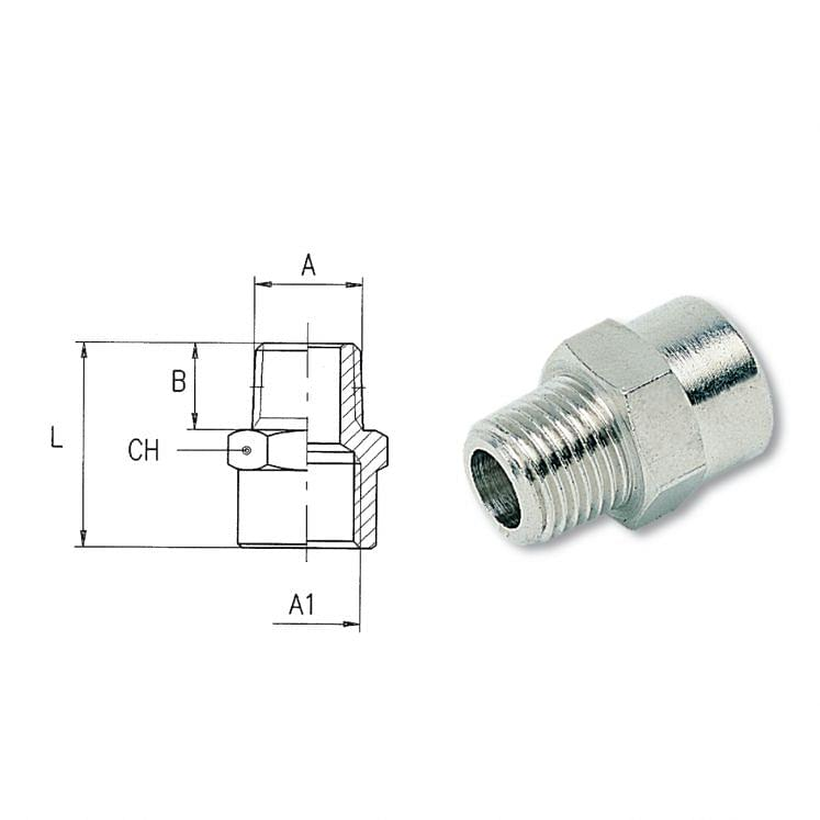 Taper threaded reductions AIGNEP 2040