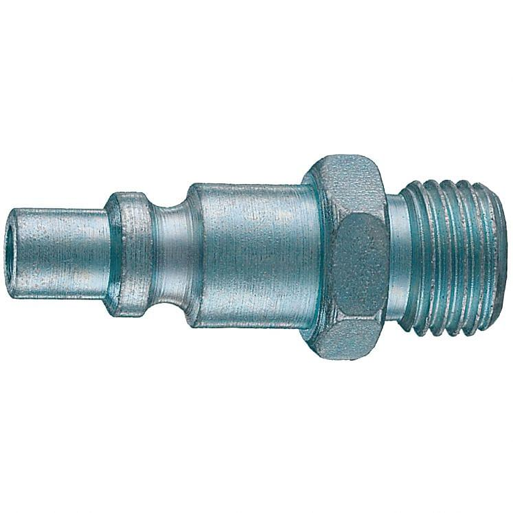 Quick couplings male threaded with spring Italy profile ANI 15/A-M